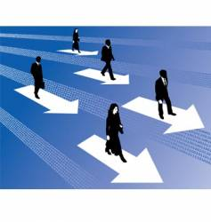 binary business people vector image