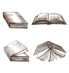 Books Hand Draw Sketch vector image