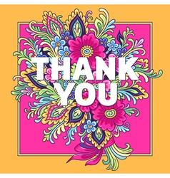 Bouquet thank you vector