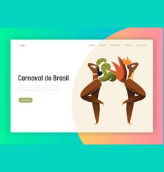 brazil carnival latin bikini woman landing page vector image