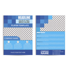 brochure design flyer template vector image