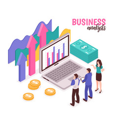 business analyst composition vector image