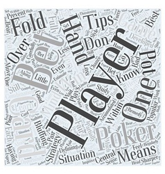 BWG poker tips Word Cloud Concept vector image