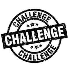 Challenge round grunge black stamp vector