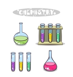 Chemistry Isolated On White vector image