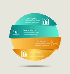 Circle banners infographic design vector