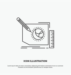 content design frame page text icon line gray vector image