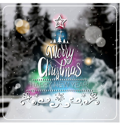 creative merry christmas and new year 2018 poster vector image