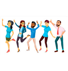 dancing people set adult persons in action vector image