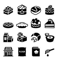 Dessert icon set vector