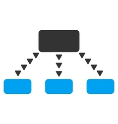 Dotted Scheme Flat Symbol vector image