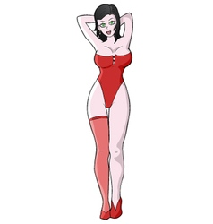 draw sexy girl vector image