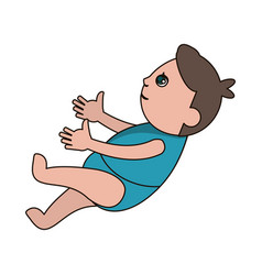 drawing baby son newborn vector image