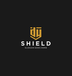 dy letter shield icon vector image
