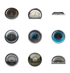 Engine speedometer icons set cartoon style vector image