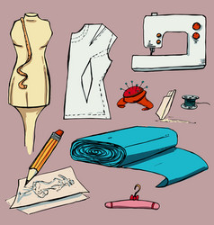Fashion set graphic style vector
