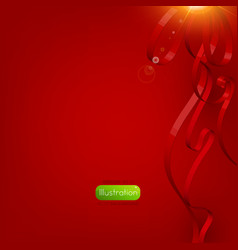Festive Red Ribbon Background vector