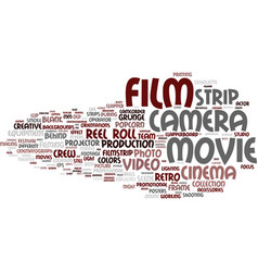 film word cloud concept vector image