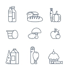 Food products from the store vector