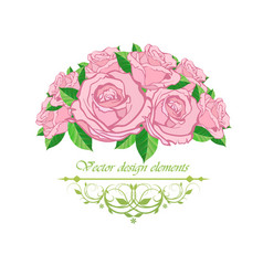 frame with floral patterns vector image