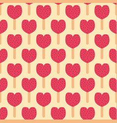 Fruit ice cream seamless pattern vector