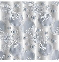 geometric white 3d greek seamless pattern memphis vector image