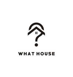 Home house roof window with question mark logo vector
