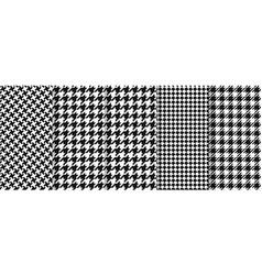 Houndstooth seamless pattern plaid tweed vector
