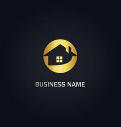 House realty gold logo vector