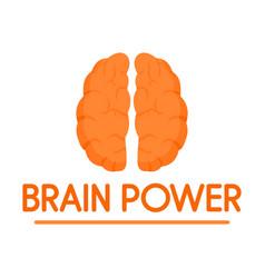Human brain power logo flat style vector