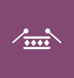 Icon children musical instrument drum vector