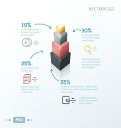 Infographic template status tower pink black gray vector