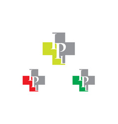 ipl letter hospital logo vector image
