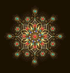 jewelry mandala vector image