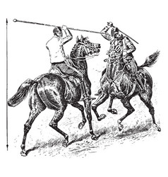 Lancing horses vintage vector
