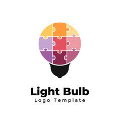 light bulb logo template abstract creative vector image