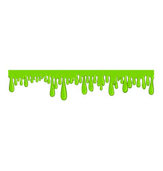 Ling green slime icon sticky long line vector