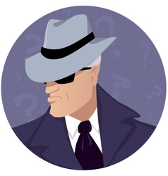 Man of mystery vector image