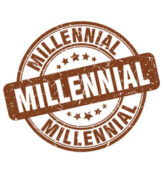 Millennial brown grunge stamp vector