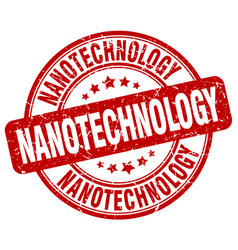Nanotechnology red grunge stamp vector