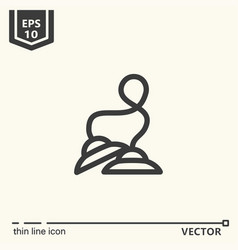 One icon - tibetan bells vector