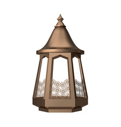 ornamental arabic lantern vector image