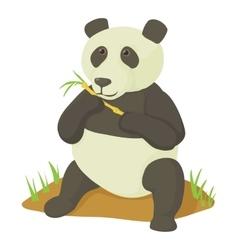 Panda icon cartoon style vector