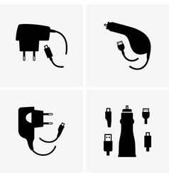 Phone chargers vector