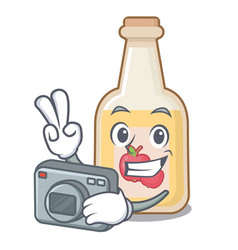 Photographer apple cider in character shape vector