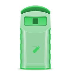 plastick dumpster waste sorting vector image