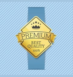 premium best quality label vector image