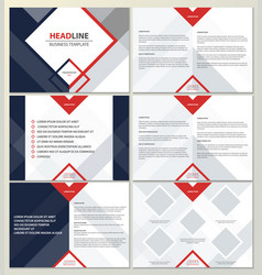 presentation template vector image