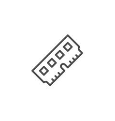 Random access memory line outline icon vector
