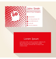 Red abstract dots business card design eps10 vector